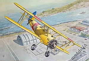 Boeing-Stearman PT-13 / N2S Kaydet biplane military trainer aircraft 1/32 Roden 633