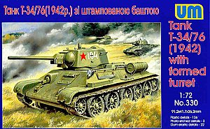 Tank T-34/76 (1942) with stamp turret 1:72 UM330