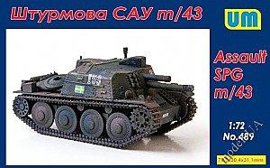 Unimodels um228 m7b2 105mm Howitzer Motor Carriage en 1:72 nuevo