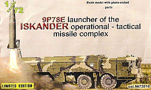 9P78E launcher of the ISKANDER operational tactical missile complex - 1/72 ZZ Modell 72010